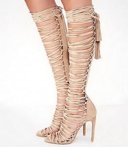 Sandale na vezivanje do kolena