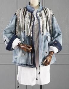 Oversize teksas jakna