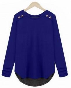 Plave pamučne bluze