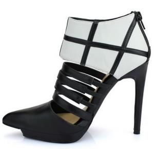 Kožne crno bele cipele