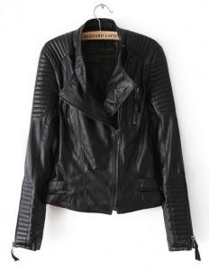 Crna jakna od veštačke kože