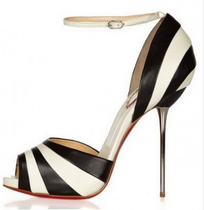 Letnje crno bele sandalete