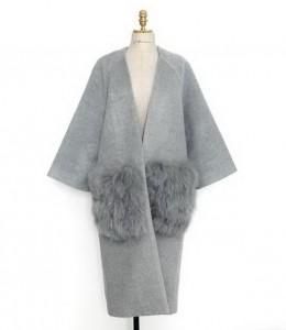 Kaput u kombinaciji vune i pamuka