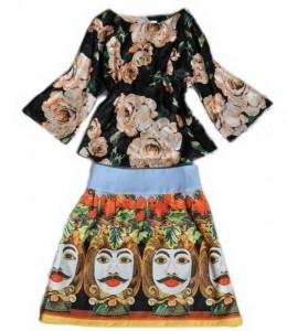 Komplet bluza i suknja