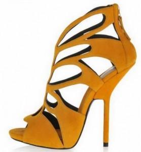 Kožne sandale sa uvučenom štiklom
