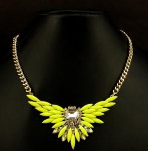 Ogrlica od žutih kristala