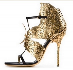 Zlatne srebrne sandale