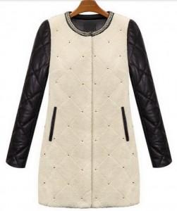 Crno bela jakna sa nitnama