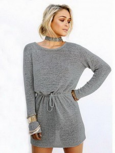Trikotažna haljina-tunika