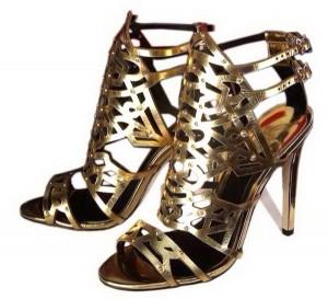 Sandale u zlatnoj i srebrnoj boji