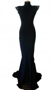 Duga crna haljina LABEL