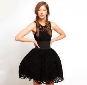 Crna providna haljina