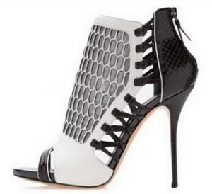 Crno bele sandale