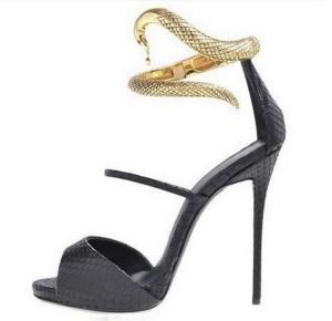Sandale sa zlatnom zmijom