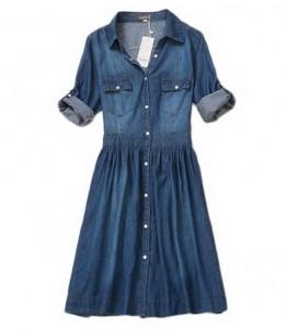 Teksas haljine sa kopčanjem