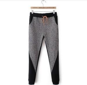 Sivo crne pantalone