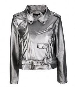 Kratka metalik jakna